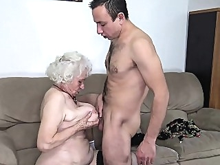 blonde blowjob granny films